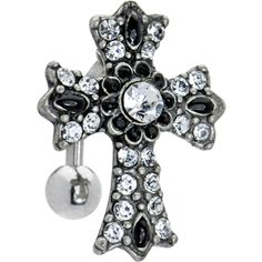 Opulent Jeweled Cross Top Drop Belly Ring  in just USD $11.99 at wholesale Price.