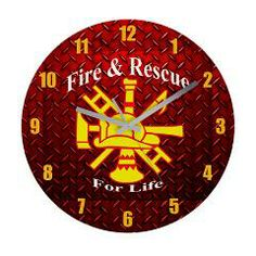 Fire And Rescue For Life Frameless Wall Clock > Fire and Rescue For Life > The Art Studio by Mark Moore