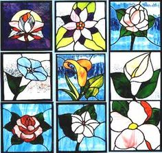 flickr photos stained glass flowers | Below are just a few of the patterns and projects contained in the ...
