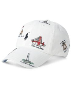 Polo Ralph Lauren Men's Embroidered Americana Cap - White W/ Monument Emb Mens Casual Leather Shoes, Polo Outfit, Crew Shop, Outfits Hombre, Cool Hats, Mens Gift Sets, Pumps Heels, Baseball Cap, Polo Ralph Lauren
