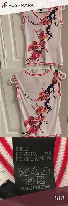 Anac by Kimmy sleeveless v neck floral top Anac by Kimmy sleeveless v neck floral top anac by kimmy Tops Blouses