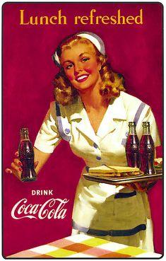 Best Vintage Posters Women Pin Up Girls Coca Cola Ideas Coca Cola Vintage, Pub Vintage, Vintage Nurse, Vintage Signs, Vintage Kitchen, Wedding Vintage, Vintage Santas, Coca Cola Poster, Coca Cola Ad
