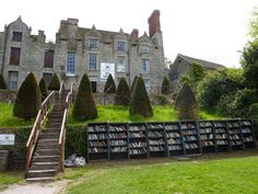 When your castle is full, build some outdoor bookshelves!  (This is Hay Castle Books in Hay on Wye.)