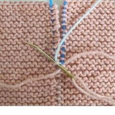 Garter stitch seams invisible join tutorial