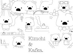 kimchi coloring page #free #printable #diy #craft