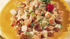 Make a dilly of a potato salad using both white and sweet potatoes.