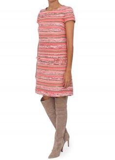 Vestido manga corta con hilos trenzados multicolor #bgoandme