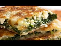 Turkish flatbread recipe stuffed with Spinach and Feta, OR a Spiced Lamb or Beef filling. Crispy on the outside, juicy inside, outrageously good! Turkish Flatbread Recipe, Flatbread Recipes, Gozleme Recipe, Turkish Recipes, Ethnic Recipes, Lasagna Casserole, Recipetin Eats, Recipe Tin, Cooking Recipes