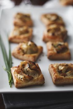 Caramelized Onion and Apple Tarts with Gruyere and Thyme