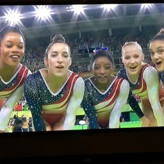 The Final Five Team Usa Gymnastics, Gymnastics Posters, Madison Kocian, Final Five, Laurie Hernandez, Simone Biles, Cool Poses, Female Gymnast, Contortion