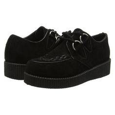 Womens ladies flat platform wedge lace up goth punk creepers shoes... (635 RUB) ❤ liked on Polyvore featuring shoes, boots, flat shoes, goth boots, goth lace up boots, gothic shoes and creeper shoes