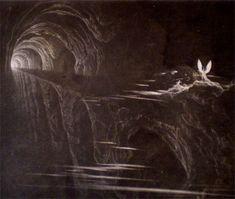 Bridge Over Chaos by John Martin, 1824-1826