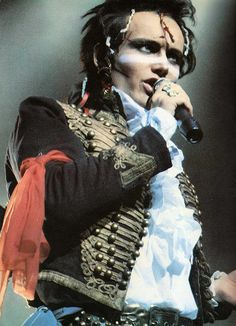 """Adam Ant...This picture is from his """"Prince Charming Revue"""" concert/video ... performing """"Killer in the Home"""""""