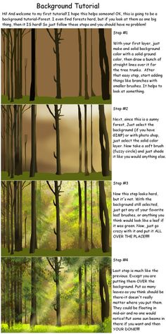 Background Tutorial by kokamo77 on deviantART
