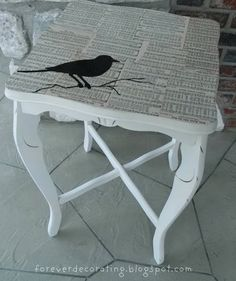 bird and music replaced really bad tabletop....cute