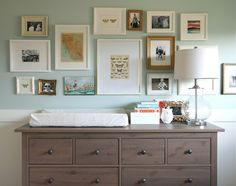 frame wall idea for above the dresser