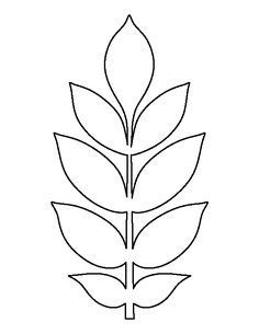 Ash leaf pattern. Use the printable outline for crafts, creating stencils, scrapbooking, and more. Free PDF template to download and print at http://patternuniverse.com/download/ash-leaf-pattern/