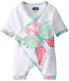Mud Pie Baby-Girls Newborn Butterfly Kimono One Piece, White, Months. Cotton kimono style one-piece has butterfly applique, mini tassels and colorful trim. Arrives on padded hanger. Toddler Outfits, Kids Outfits, Baby Chloe, Mud Pie Baby, No Boys Allowed, Long Sleeve Outfits, Cotton Kimono, Thing 1, Baby Girl Newborn
