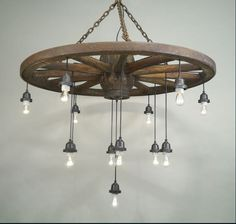 Wagon Wheel Chandelier                                                                                                                                                     More