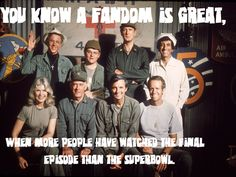 M*A*S*H has a great fandom.