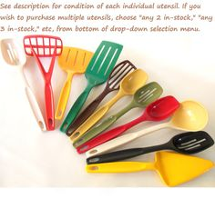 Hey, I found this really awesome Etsy listing at https://www.etsy.com/listing/129777769/nylon-plastic-foley-kitchen-utensils