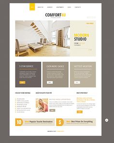 Template 46370 - Real Estate Responsive Joomla Template with Bootstrap, Homepage Slider, Gallery and Blog