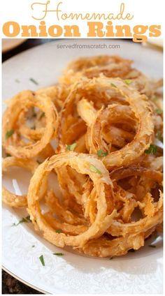 Making your own crispy Homemade Onion Rings is the perfect appetizer or accompaniment to any burger or sandwich.