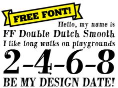 Find FF Double Dutch Smooth on #FontShop and download it for free!