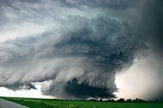 A monster tornado over Alvo, Nebraska-USA