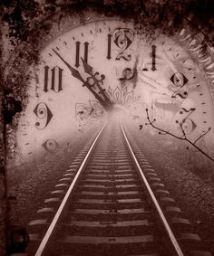 Entry Point - The entry point of this design is subtle where the train tracks lead into the center of the clock, leaving a sense of mystery as to what is on the other side. Time Travel Machine, Hd Space, Unexplained Mysteries, Cult, Night Circus, Images Google, Train Tracks, Past Life, Michigan