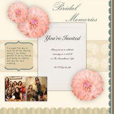 scrapbook ideas for bridal shower invitations