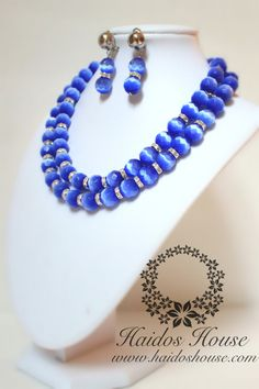 HBS 1288 - 2 Layer Blue & Silver Beads Set