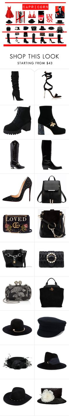 """""""Capricorn"""" by pastprezence ❤ liked on Polyvore featuring Yves Saint Laurent, Gianvito Rossi, Gucci, Toga, Calvin Klein 205W39NYC, Christian Louboutin, Chloé, Alexander Wang, Miu Miu and Alexander McQueen"""