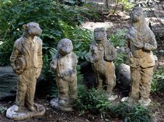 You can't know how badly I want these. Antique Wind in the Willows statues.