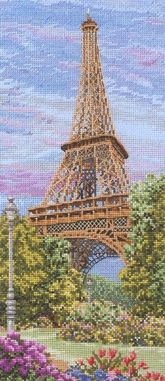 The Eiffel Tower Cross Stitch Kit | sewandso