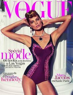 1950s-esque. French Vogue cover - February 2012 Daria Werbowy