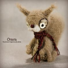 Orava - Original Handmade Little Squirell/Chipmunk/Collectable/Gift/Charm