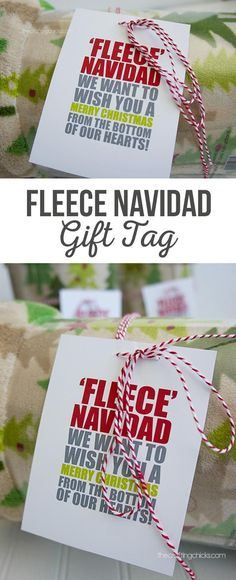 """Fleece Navidad Blanket Tag 
