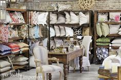 perfectly imperfect | shop | alabama home decor store  great displays!!!