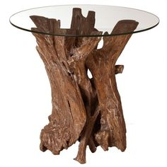 I pinned this ARTERIORS Home Nantucket Side Table from the Style Study: Contemporary Cottage event at Joss and Main! Glass Top Side Table, Rustic Side Table, Glass Table, Driftwood Furniture, Driftwood Table, Trunk Furniture, Timber Furniture, Driftwood Art, Weathered Furniture