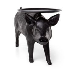 Who wouldn't want to impress their guests with a pig to serve the drinks. The Pig Table is one of a three piece collection of animal furniture by Front which also include a life-sized Horse Lamp and Rabbit Lamp. Horse Lamp, Contemporary Coffee Table, Contemporary Decor, You Draw, Round Coffee Table, Modern House Design, All Modern, Modern Furniture, Weird Furniture