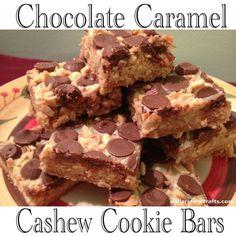 In the Kitchen: Chocolate Caramel Cashew Cookie Bars (an award-winning recipe!) | Mrs. Greene - crafts, food, fashion, life