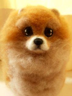 Artist Needle Felted Pomeranian Sculpture Dog - CeeCee - OOaK Pet Portrait Sculpture Memorial on Etsy, $145.00