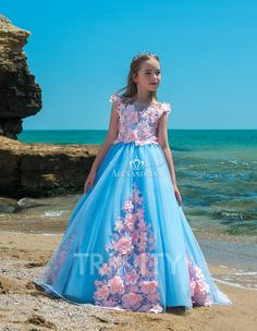7d3cdf7f3d3 T383 Flower Girl Dress - Birthday Wedding Party Holiday Bridesmaid  Communion Lace Tulle  flowergirldresses