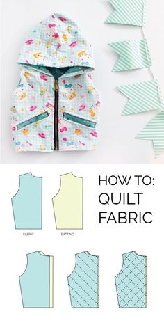 how to quilt fabric for a dimensional, textured garment// seekatesew.com