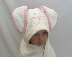 Easter Rabbit Hoodie  the binding on the ears!