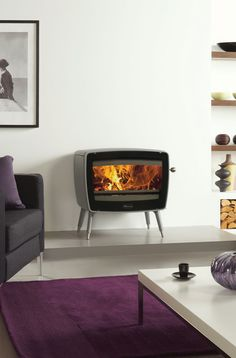 The Dovre Vintage 50 is the largest wood burning stove in the range and with its designer retro looks, creates a striking focal point for any interior space.