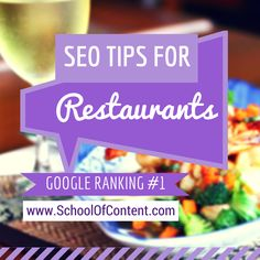 Want better ranking on search engines? Here are 11 SEO tips for restaurants to get number 1 spot on Google. Read more here: http://www.schoolofcontent.com/seo-tips-for-restaurants/