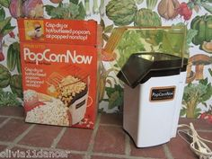 Growing up 80's - The hot air popcorn maker for movie night on VHS, the cool new way to watch movies at home.