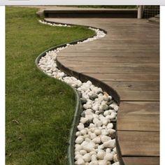 rocks around the deck!
